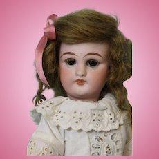 10 Inch Antique Simon & Halbig German Bisque Doll #749 DEP c1890 Cute Eyelet Dress
