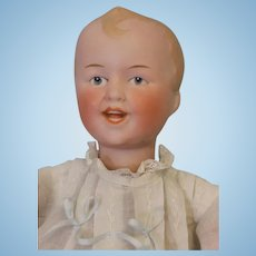 12 Inch Antique German Bisque doll William Goebel Wind Up Walker Laughing Character