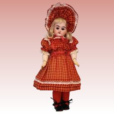Antique 11 inch Heinrich Handwerck 79-3X Doll Original Ball Jointed Body Great Dress  and Bonnet