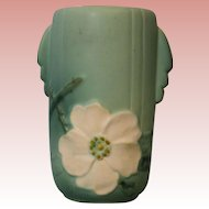 9 Inch Tall Wild Rose old Vase Signed Weller Pottery Excellent Condition no cracks