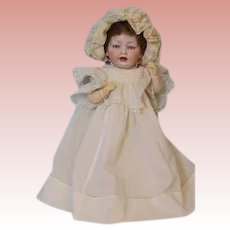 16 inch Hertel & Schwab 152 Antique Bisque German Baby Doll circa 1912 CUTE OUTFIT!