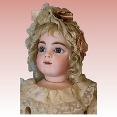 Antique 27.5 Inch Bru Jeune Extraordinary French Bisque Bebe Doll Size 10