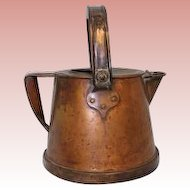 "Antique solid Copper hot Water Carrier ca 1916 ""Bullpitt & Sons Ltd. Birmingham"""