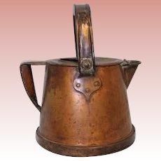 "Antique solid Copper hot Water Carrier ca 1916 ""Bullpitt & Sons Ltd. Birmingham"""