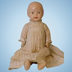 Antique 19 Inch American composition doll circa 1912 Cloth body