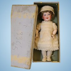 Antique 17 inch SFBJ 236 Laughing character bisque doll France Orig clothes Box