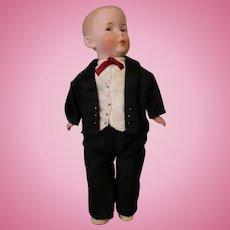 Antique 10 inch Whistling Jim Gebruder Heubach doll Working whistler