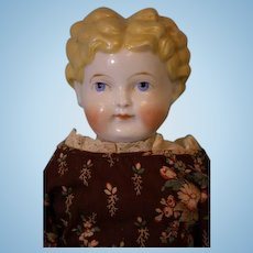"""20"""" Antique ABG Blond China head doll Germany 1880s Antique cloth body Dressed"""