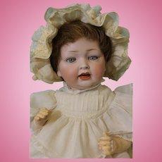 16 inch Hertel & Schwab 152 Antique Bisque German Baby Doll circa 1912 CUTE OUTFIT!
