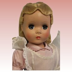 "17"" Madame Alexander Alice In Wonderland tagged hard plastic Maggie Face c. 1949"