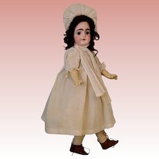 "Antique 14"" Solid Dome Sonneberg 603 Closed Mouth German Bisque Doll"