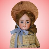 Antique 23 inch CM Bergmann Simon and Halbig 9 doll Orig body finish, blue eyes!