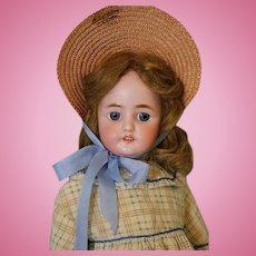Antique 23 inch CM Bergmann Simon and Halbig 9 doll Orig body finish, blue eyes!