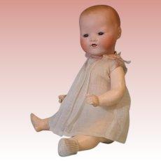 13.5 inch Antique Kiddy Joy German bisque head baby Original gown w ribbon trim