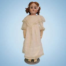 """27"""" Antique 154 Kestner doll Kid body Replaced arms Auburn antique mohair wig"""