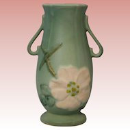 "6.75"" Wild Rose Pattern Weller Pottery Vase Excellent Condition"