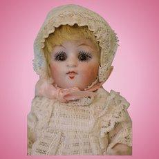 Antique 5.5 Inch Kestner 150 All Bisque Doll with Original Wig c.1910 Sleep Eyes
