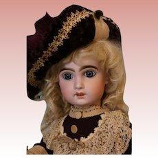 Antique 22 inch Tete Jumeau Doll Body marked BEBE JUMEAU Diplonne d' Honneur