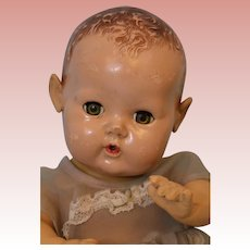 "11"" Vintage Effanbee Dy Dee Baby Doll Applied Ears"