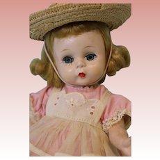 "8"" Madame Alexander ALEX 1953-54 Hard Plastic Doll Strung straight leg"