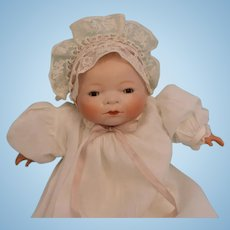 "Antique 11"" Bye Lo German Bisque Baby Grace S. Putnam Doll c1924"
