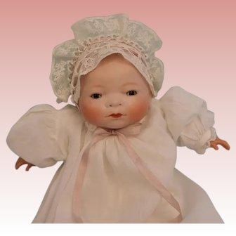 "Antique 11"" Bye Lo German Bisque Baby Grace S. Putnam Doll c1924"