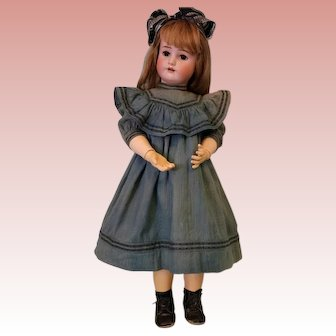 "Antique 30"" Simon Halbig Handwerk German Bisque Doll, Adorable Clothing c.1900"