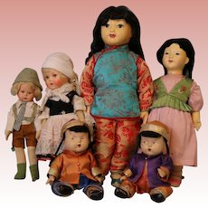Instant Collection of Vintage International Composition Dolls Various Countries