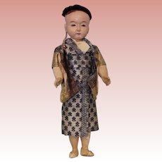 "16"" German Japanese Ichimatsu Doll, Blue eyes, jointed arms, legs & swivel head"
