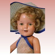 13 Inch Ideal Shirley Temple Doll Composition Sun Suit from Stand Up and Cheer