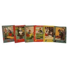 """Vintage 6 Book Set Thornton Burgess Harrison Cady 7"""" X 5"""" Children's books 1928"""