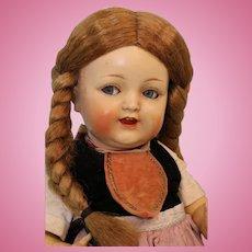 15 Inch K*R Celluloid Doll Kammer & Reinhardt 728 flirty eyes All Orig costume
