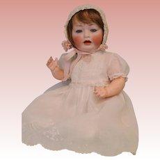 16 Inch Antique Hertel Schwab 152 10 German Bisque Baby Doll c1912