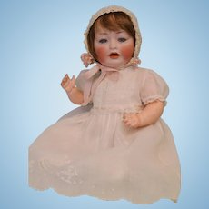 16 Inch Antique Hertel Schwab 152 10 German Bisque Baby Doll c1912