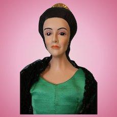 """21 Inch UFDC Janet E. Masteller Artist Doll """"Carmelita"""" 1973 Porcelain Doll"""