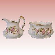 Antique Set of Limoges cream & sugar victorian shape circa 1890s