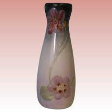 10-1/2 inch Weller vase nasturtiu, Wild Rose design 1906 Clean from Non-smoking
