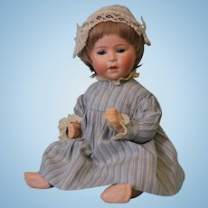 """9-1/2 """" German Bisque DIP 1 baby by Swaine Co. Clean with no damage and no repair"""