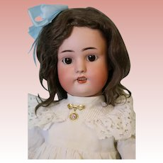 """23"""" Antique Simon Halbig Bisque Doll Antique Mohair Wig Ball Joint German Body"""