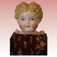 "20"" Antique ABG Blond China head doll Germany 1880s Antique cloth body Dressed"