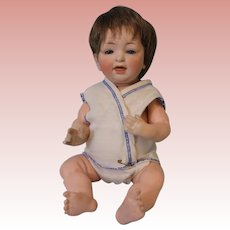 "13"" Antique Kestner 211 baby doll Blue sleep eyes Orig body Plaster pate"
