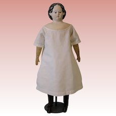 Antique 25-inch Paper Mache Greiner Doll Patented Head # 8, Pat. March 30 1858