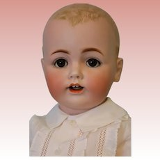 "24"" Antique Bisque Kestner Baby Orig Kestner body Brown eyes Solid dome head"