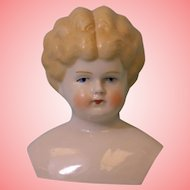 4 Inch Antique German Blond China Head Marked Germany Bargain No Body