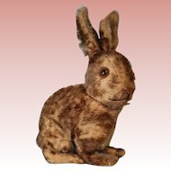 Adorable 9 Inch 1920s Mohair Steiff Rabbit Brown Jointed Neck Cute!