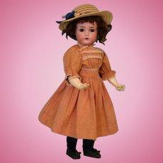 """Antique 18"""" Simon & Halbig K*R 46 German Bisque Doll Cute Dress!"""
