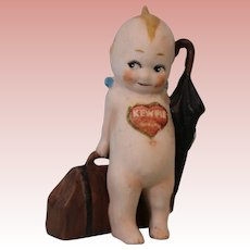 4.5 Inch Antique Kewpie Traveler Rose O'Neill German Bisque