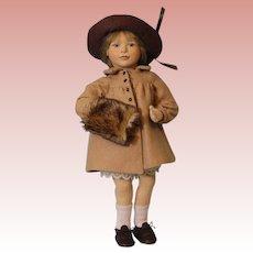 """15"""" 1990 Maggie Iacono """"Elizabeth"""" Felt Doll Limited Edition 151/250 Maggie Made"""