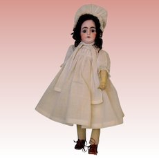 "Antique 14"" Solid Dome Sonneberg 603 Closed Mouth German Bisque Doll William Goe"