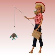 Vintage 1960's Barbie in Picnic Set #967 Number 5 or 6 by Mattel